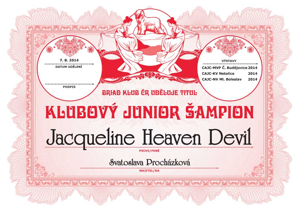 jacqueline klubovy junior sampion